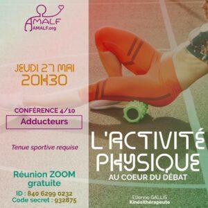Mini-conférence Activité physique @ Zoom